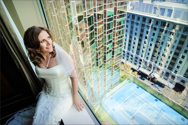 Melbourne CBD skyscapers in Wedding Photography: Serendipity Image