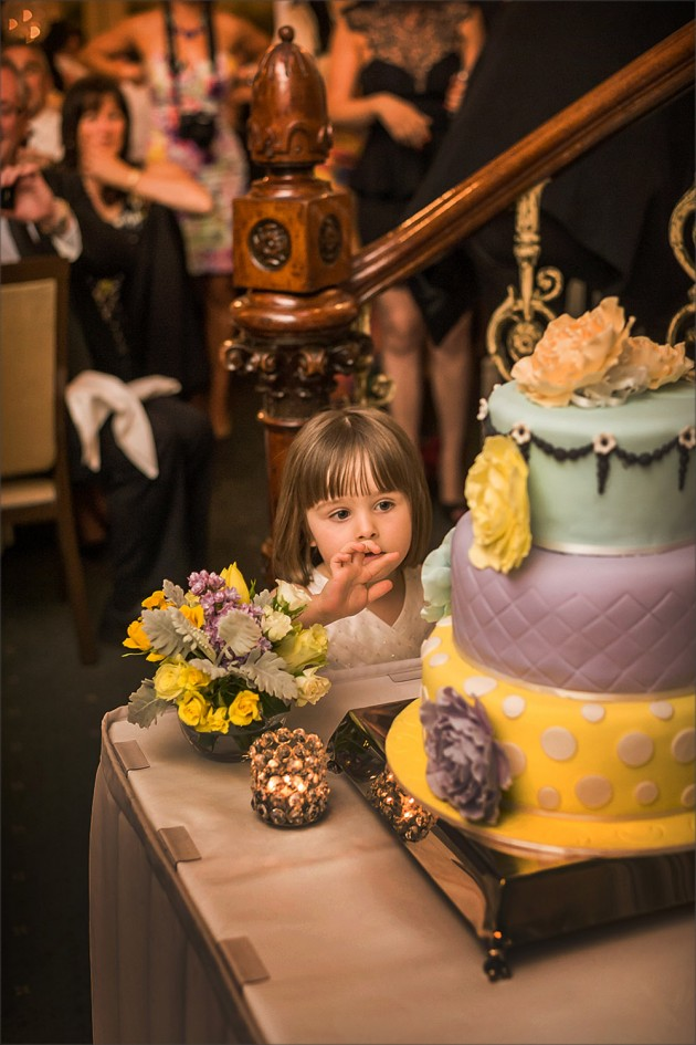 Child eating wedding cake at Butleigh Wootton