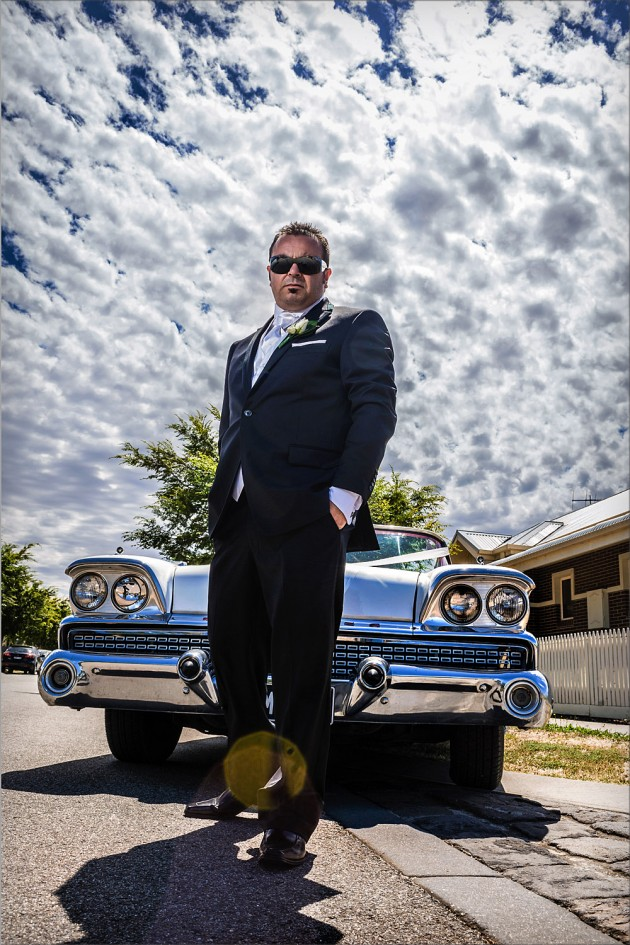 Serendipity Melbourne Wedding Image - Groom Car