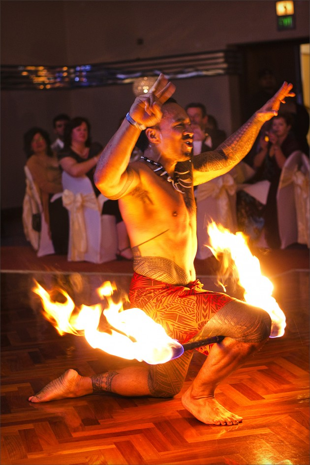 Fire twirler at Wedding Reception