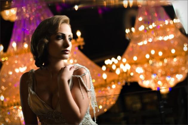 Bride Samantha in contemporary shot